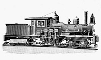 0080483 © Granger - Historical Picture ArchiveLOCOMOTIVE, 1893.   Shay geared engine logging locomotive produced from 1880 to 1945 by the Lima Locomotive Works (Model 450). Line engraving, 1893.