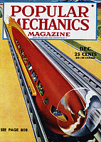 0123929 © Granger - Historical Picture ArchiveMONORAIL, c1940.   Cover of Popular Mechanics Magazine, c1940, with an illustration of a monorail designed by Walter Dorwin Teague (1883-1960).