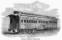 0268549 © Granger - Historical Picture ArchivePULLMAN CAR, 1869.   The Pullman Sleeper Car of the Union Pacific Railway. Wood engraving, English, 1869.