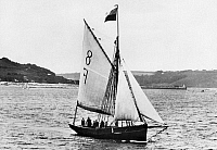 0100057 © Granger - Historical Picture ArchiveSAILING SHIP: CUTTER.   British Falmouth pilot cutter #8. Photograph, English, c1900.
