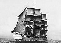 0100059 © Granger - Historical Picture ArchiveFINNISH BARQUE, 1920.   The 'Fred,' built in the Åland Islands in 1920, as one of the last of its kind.