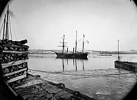 0110522 © Granger - Historical Picture ArchiveBRAZILIAN STEAMSHIP, 1863.   A Brazilian steam frigate at the Navy Yard at Washington, D.C. Photograph by Alexander Gardner, 1863.