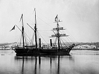 0110524 © Granger - Historical Picture ArchiveBRAZILIAN STEAMSHIP, 1863.   A Brazilian steam frigate at the Navy Yard at Washington, D.C. Photograph by Alexander Gardner, 1863.