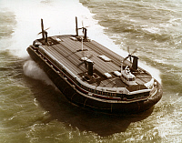 0126975 © Granger - Historical Picture ArchiveHOVERCRAFT FERRY, 1980s.   Seaspeed's Hovercraft 'Princess Anne' crossing the English Channel between Calais and Boulogne-sur-Mer, France, and Dover, England, starting in 1981.