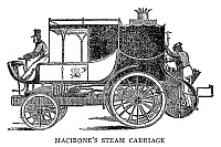 0267107 © Granger - Historical Picture ArchiveSTEAM CARRIAGE.   Steam carriage invented by Francis Maceroni, c1836. Engraving, English, 19th century.