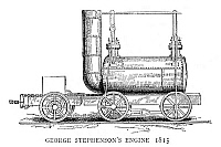 0267102 © Granger - Historical Picture ArchiveLOCOMOTIVE, 1815.   Steam locomotive built by George Stephenson, 1815. Engraving, English, 1888.