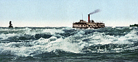 0119744 © Granger - Historical Picture ArchiveCANADA: STEAMBOAT, c1901.   A steamboat in the Lacine rapids on the Saint Lawerence River near Montreal, Canada. Photochrome, c1901.