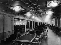 0119757 © Granger - Historical Picture ArchiveRMS OLYMPIC, c1911.   The interior of the 1st class dining room on board the RMS 'Olympic' ocean liner. Photograph c1911.