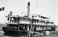 0119770 © Granger - Historical Picture ArchiveAFRICA: STEAMBOAT.   Steamboat at a wharf in Africa. Photograph, c1880-1923.