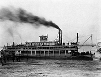 0176672 © Granger - Historical Picture ArchiveSTEAMBOAT: TARASCON, c1870.   The steamboat 'Tarascon' of the Louisville and Evansville Packet Company of Louisville, Kentucky. Photograph, c1870.