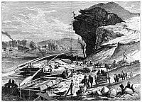 0176673 © Granger - Historical Picture ArchiveTENNESSEE: CHATTANOOGA.   The Tennessee River at Chattanooga, Tennessee. Line engraving by Harry Fenn, 19th century.
