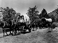 0012770 © Granger - Historical Picture ArchiveWAGON TRAIN.   Motion picture still.