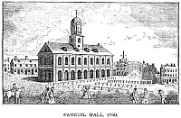 0057383 © Granger - Historical Picture ArchiveBOSTON: FANEUIL HALL, 1789.   Contemporary engraving.
