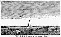 0091947 © Granger - Historical Picture ArchiveBOSTON HARBOR, 1776.   View of Boston Harbor from Fort Hill. Engraving, English, 1776.