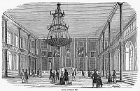 0091953 © Granger - Historical Picture ArchiveBOSTON: FANEUIL HALL.   Interior of Faneuil Hall at Boston, Massachusetts. Wood engraving, c1820.