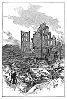 0268401 © Granger - Historical Picture ArchiveBOSTON: FIRE, 1872.   Ruins of buildings in which the Great Fire of 9-11 November 1872 started, in Boston, Massachusetts. Contemporary English engraving.