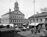 0353361 © Granger - Historical Picture ArchiveFANEUIL HALL, c1890.   Faneuil Hall in Boston, Massachusetts. Photograph, c1890.