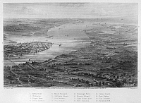 0091985 © Granger - Historical Picture ArchiveCHARLESTON, 1863.   View of Charleston, South Carolina, and its vicinity. Steel engraving, 1863.