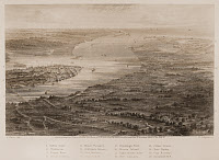 0173096 © Granger - Historical Picture ArchiveCHARLESTON, 1863.   View of Charleston, South Carolina, and its vicinity. Steel engraving, 1863.