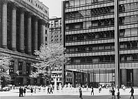 0260277 © Granger - Historical Picture ArchiveCHICAGO: DALEY PLAZA.   A view of the plaza outside the Chicago Civic Center (later renamed Daley Plaza and the Richard J. Daley Center) in Chicago, Illinois, looking towards Clark Street from Washington Street, with part of Chicago City Hall shown at left. Photographed c1967.