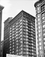 0260282 © Granger - Historical Picture ArchiveCHICAGO: FISHER BUILDING.   A view of the Fisher Building at 343 South Dearborn Street in Chicago, Illinois, constructed in 1896 by D.H. Burnham and Company. Photographed by Harold Allen, 24 May 1964.