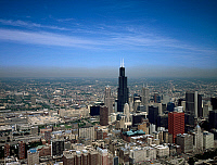 0265260 © Granger - Historical Picture ArchiveCHICAGO: WILLIS TOWER.   The Willis Tower (formerly the Sears Tower) in Chicago, Illinois. Photograph by Carol M. Highsmith, late 20th century.