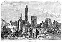 0268399 © Granger - Historical Picture ArchiveCHICAGO: FIRE, 1871.   Ruins of the Tremont House after the Great Fire in Chicago, 8-10 October 1871. Contemporary English engraving.