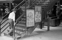 0623054 © Granger - Historical Picture ArchiveCHICAGO: ELEVATED TRAIN.   Steps leading up to an elevated train station in Chicago, Illinois. Photograph by John Vachon, July 1940.