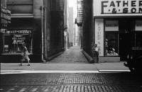 0623056 © Granger - Historical Picture ArchiveCHICAGO: ALLEY, 1940.   View down an alley in Chicago, Illinois. Photograph by John Vachon, July 1940.
