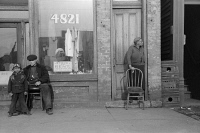 0623061 © Granger - Historical Picture ArchiveCHICAGO: STOREFRONT, 1941.   A storefront in Chicago, Illinois. Photograph by Edwin Rosskam, July 1941.