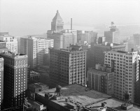 0623134 © Granger - Historical Picture ArchiveCHICAGO: REPUBLIC BUILDING.   View of the Republic Building at 209 South State Street in Chicago, Illinois. Photograph by Richard Nickel, 1960.