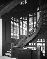 0623154 © Granger - Historical Picture ArchiveCHICAGO: ROOKERY BUILDING.   Staircase inside the Rookery Building at 209 South LaSalle Street in Chicago, Illinois. Photograph by Philip Turner, 1967.
