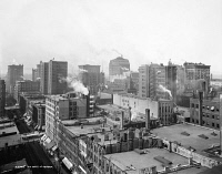 0623170 © Granger - Historical Picture ArchiveCHICAGO, c1900.   View of the city of Chicago, Illinois. Photograph, c1900.