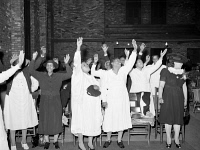 0623177 © Granger - Historical Picture ArchiveCHICAGO: PENTECOSTAL CHURCH.   Congregation at an African American Pentecostal Church in Chicago, Illinois. Photograph by Russell Lee, April 1941.
