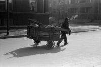 0623236 © Granger - Historical Picture ArchiveCHICAGO: SOUTH SIDE, 1941.   Man hauling a cart on the South Side of Chicago, Illinois. Photograph by Russell Lee, April 1941.