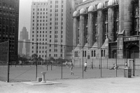 0623237 © Granger - Historical Picture ArchiveCHICAGO: TENNIS COURTS.   Tennis courts in Chicago, Illinois. Photograph by John Vachon, July 1941.
