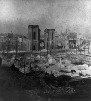 0623588 © Granger - Historical Picture ArchiveCHICAGO: FIRE, 1871.   View of Chicago from northwest Michigan Avenue, after the Great Fire in Chicago, 8-10 October 1871. Stereograph.