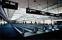 0119007 © Granger - Historical Picture ArchiveDENVER: AIRPORT, c1995.   Interior view of Concourse B at Denver International Airport, Denver, Colorado. Photographed c1995.