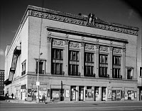 0422478 © Granger - Historical Picture ArchiveDETROIT: ORCHESTRA HALL.   Exterior of Orchestra Hall at 3711 Woodward Avenue, Detroit, Michigan. Photograph by Allen Stross, October 1970.
