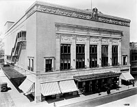 0422479 © Granger - Historical Picture ArchiveDETROIT: ORCHESTRA HALL.   Exterior of Orchestra Hall at 3711 Woodward Avenue, Detroit, Michigan. Photograph, c1920.