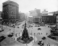 0527601 © Granger - Historical Picture ArchiveDETROIT, c1910.   View of the Michigan Soldiers' and Sailors' Monument in Campus Martius Park in Detroit, Michigan. Photograph, c1910.
