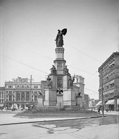 0527602 © Granger - Historical Picture ArchiveDETROIT, c1907.   The Michigan Soldiers' and Sailors' Monument in Campus Martius Park in Detroit, Michigan. Photograph, c1907.