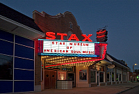 0174617 © Granger - Historical Picture ArchiveMEMPHIS: STAX RECORDS.   Exterior of the Stax Museum of America Soul Music, formerly Stax Records, in Memphis, Tennessee. Photograph by Carol M. Highsmith, 2008.