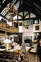 0128977 © Granger - Historical Picture ArchiveAKRON: GOODYEAR MANSION.   Interior view of Stan Hywet Hall, a Tudor mansion built, 1912, for F.A. Seiberling, founder of the Goodyear Rubber Company. Photograph, c1995.