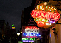 0126985 © Granger - Historical Picture ArchiveNEW ORLEANS: NEON SIGNS.   Neon signs in the French Quarter section of New Orleans, Louisiana. Photograph by Carol M. Highsmith, 2006.