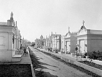 0130909 © Granger - Historical Picture ArchiveNEW ORLEANS: CEMETERY.   A view of Metairie Cemetery in New Orleans, Louisiana. Photographed c1890.
