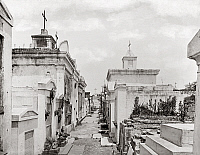 0131199 © Granger - Historical Picture ArchiveNEW ORLEANS: CEMETERY.   Burial vaults in St. Louis Cemetery, New Orleans, Louisiana. Photographed c1901.