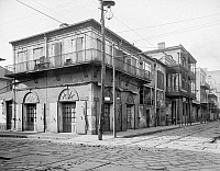 0131322 © Granger - Historical Picture ArchiveNEW ORLEANS: BAR, c1905.   A view of the Old Absinthe House on the corner of Bourbon and Bienville Streets in New Orleans, Louisiana. Photographed c1905.