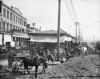 0131765 © Granger - Historical Picture ArchiveNEW ORLEANS: MARKET, c1906.   Scene in the French Market in New Orleans, Louisiana. Photographed c1906.