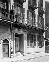 0131770 © Granger - Historical Picture ArchiveNEW ORLEANS: BUILDING.   Exterior view of the building at 327 Bourbon Street, New Orleans, Louisiana. Photographed by Frances Benjamin Johnston, c1938.